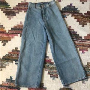 BDG high waist wide leg denim